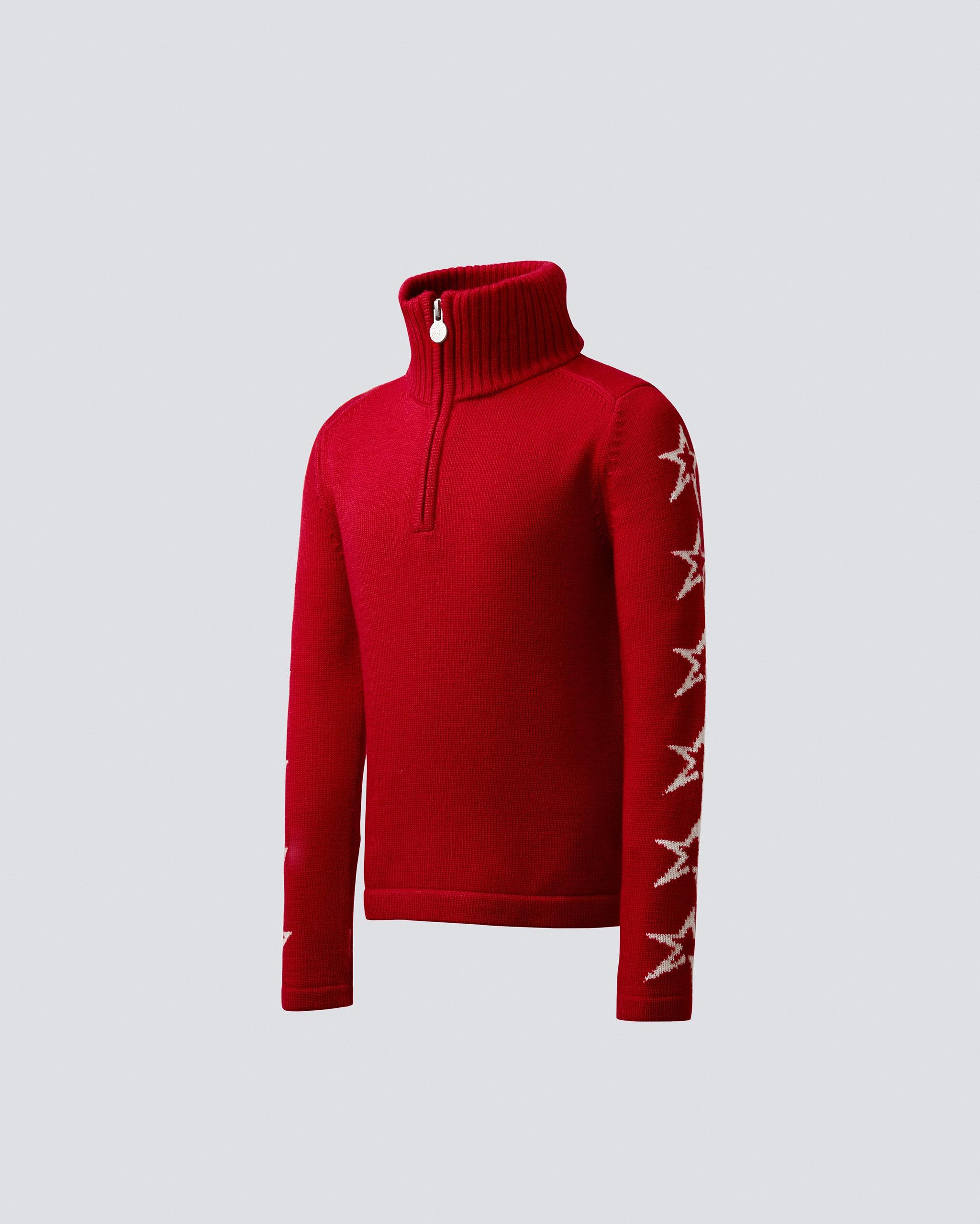 Star Half Zip Merino Wool Sweater