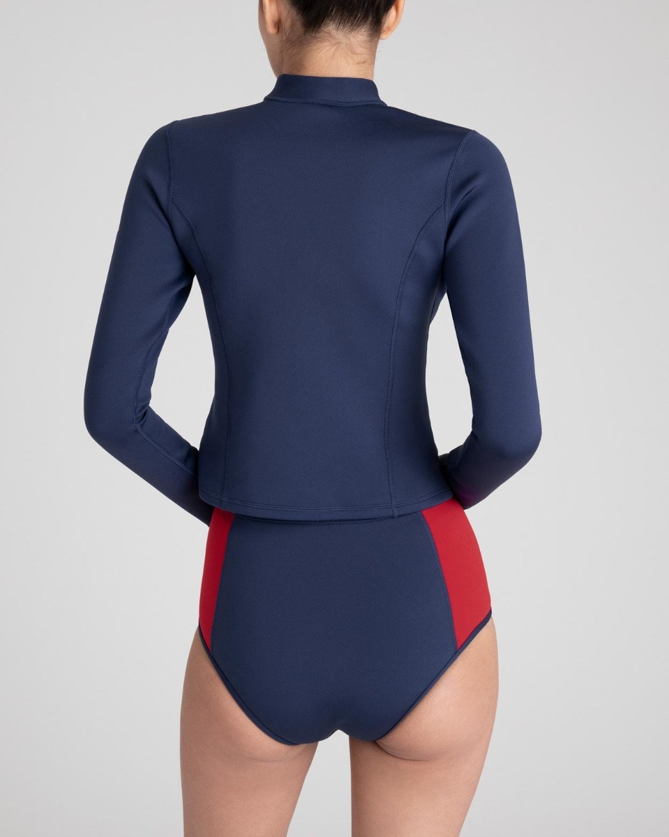 PM Long Sleeved Neo Bikini Top